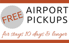 FREE Airport Pickups 10 Days or Longer